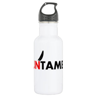 untamed beast animal cruel strong powerful stainless steel water bottle