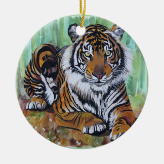Untamed Beauty Ceramic Ornament