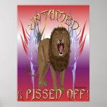 Untamed Lion Print