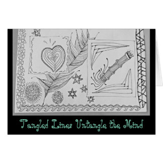 Untangle Your Mind With Tangled Lines; card