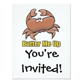 """únteme con mantequilla encima de dibujo animado invitación 4.25"""" x 5.5"""""""