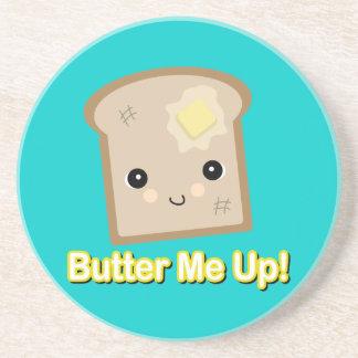 únteme con mantequilla encima de tostada posavasos para bebidas