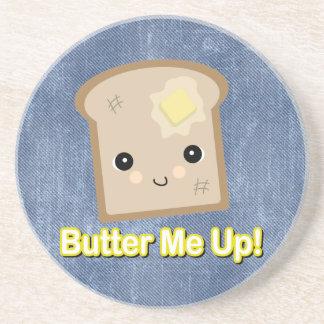 únteme con mantequilla encima de tostada posavasos personalizados