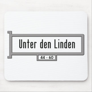 Unter den Linden, Berlin Street Sign Mouse Pad