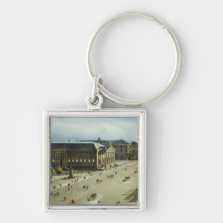 Unter den Linden from the Armoury, c.1855 Silver-Colored Square Keychain