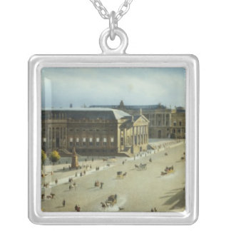 Unter den Linden from the Armoury, c.1855 Silver Plated Necklace