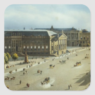Unter den Linden from the Armoury, c.1855 Square Sticker