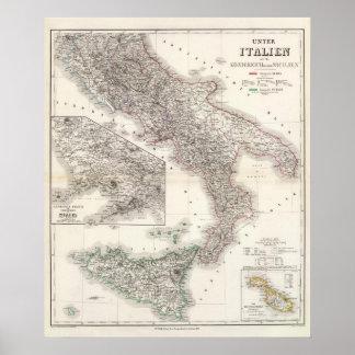 Unter Italien, beider Sicilien - Naples Region Poster