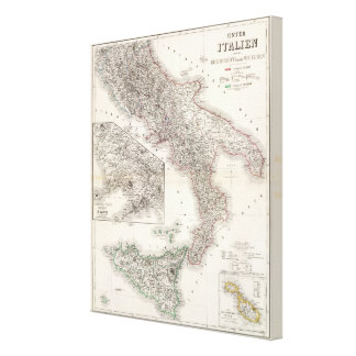Unter Italien, beider Sicilien - región de Nápoles Impresión En Lona