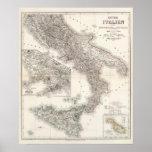 Unter Italien, beider Sicilien - región de Nápoles Poster
