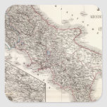Unter Italien, beider Sicilien - región de Nápoles Pegatinas Cuadradas Personalizadas