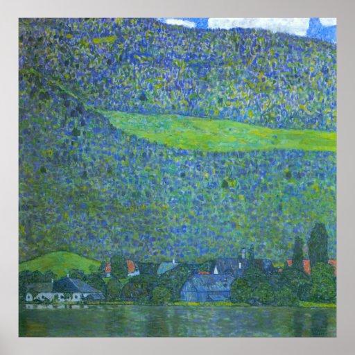 Unterach at Attersee by Klimt, Vintage Art Nouveau Poster