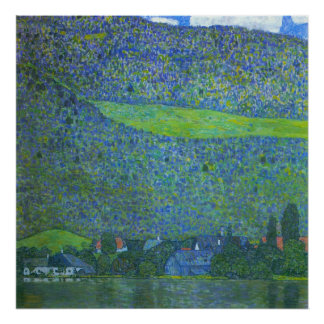 Unterach at the Attersee by Gustav Klimt Poster