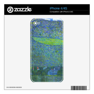 Unterach at the Attersee by Gustav Klimt Decals For iPhone 4S