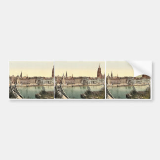 Untermainquai, Saalhof and Cathedral, Frankfort on Car Bumper Sticker