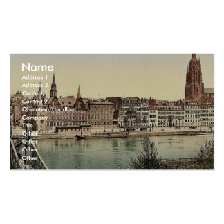 Untermainquai, Saalhof and Cathedral, Frankfort on Business Cards
