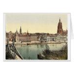 Untermainquai, Saalhof and Cathedral, Frankfort on Card