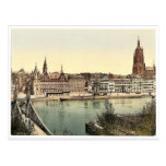 Untermainquai, Saalhof y catedral, Frankfort encen Tarjeta Postal