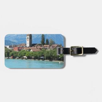 Unterseen, church and village Interlaken Bag Tags