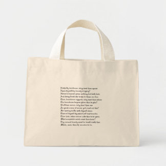 Unthrifty loveliness mini tote bag