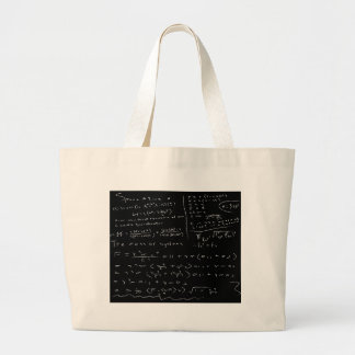 Untidy Chalk Board Large Tote Bag