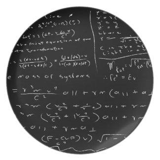 Untidy Chalk Board Melamine Plate