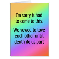 Until Death Do Us Part Divorce Card