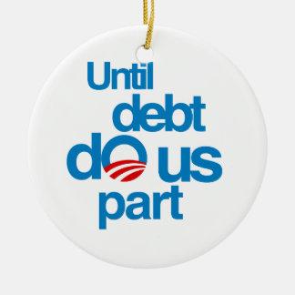 Until debt do us part christmas tree ornaments