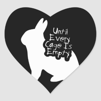 Until Every Cage is Empty (ALF) Heart Sticker