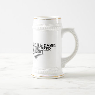 Until the Beer Runs Out 18 Oz Beer Stein