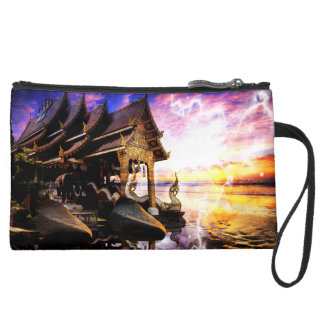Until the End of Time Suede Wristlet
