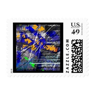 Untitled 13 Abstract composition Postage