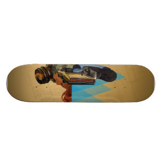 Untitled #1 collage skate deck