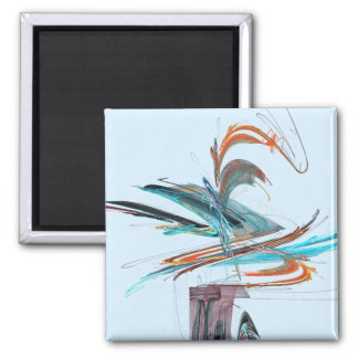 Untitled 81 2 inch square magnet