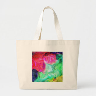 Untitled Colorful Abstract Large Tote Bag