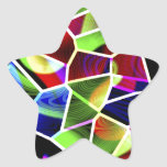 'Untitled' colors Star Sticker