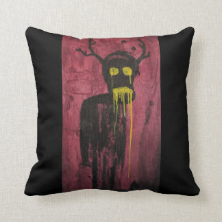 Untitled (demon) throw pillow
