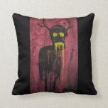 Untitled (demon) throw pillows