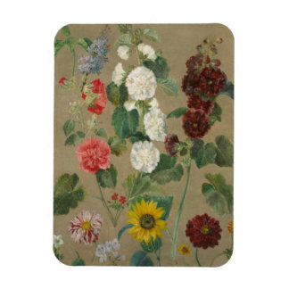 Untitled (Flowers) (oil on board) Rectangular Photo Magnet