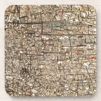 Untitled (Non Objective Composition) by Pavel Beverage Coaster