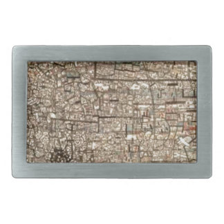 Untitled (Non Objective Composition) by Pavel Rectangular Belt Buckle