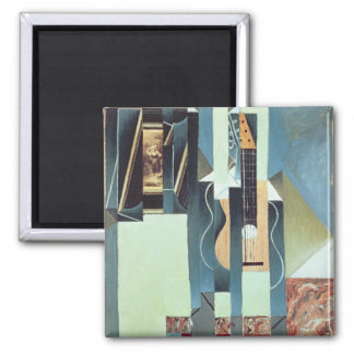 Untitled (oil on canvas) 2 inch square magnet