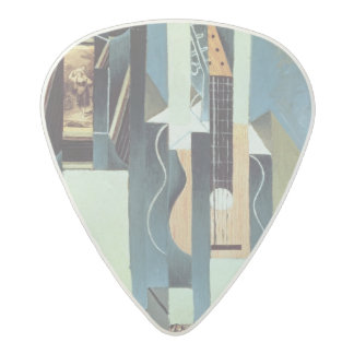 Untitled (oil on canvas) acetal guitar pick