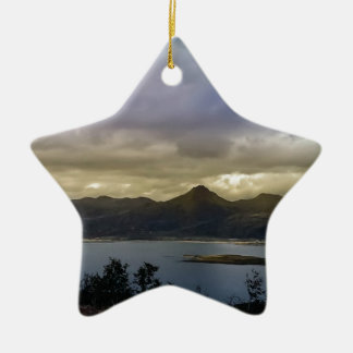 Untitled Double-Sided Star Ceramic Christmas Ornament