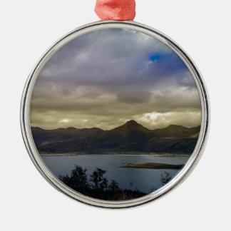 Untitled Round Metal Christmas Ornament