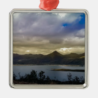 Untitled Square Metal Christmas Ornament