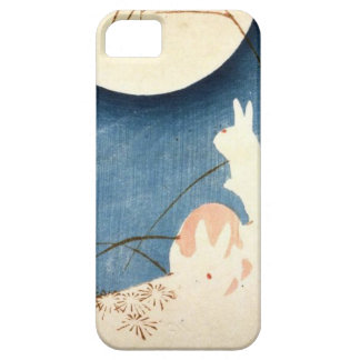 Untitled (Two Rabbits, Pampas Grass, and Full Moon iPhone SE/5/5s Case
