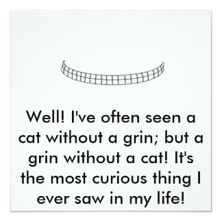 Untitled, Well! I've often seen a cat without a... Card
