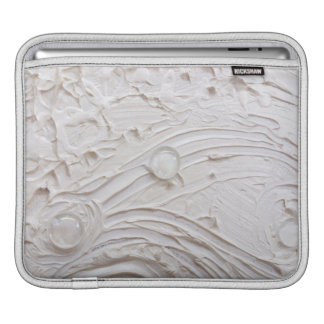 Untitled White Abstract Painting with glass beads iPad Sleeve