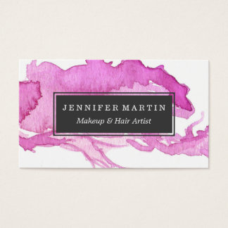 Unto rosado minimalista de la pintura de la tarjetas de visita